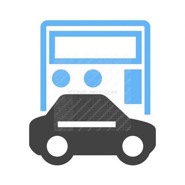 Auto Loan Calculator Blue Black Icon - IconBunny