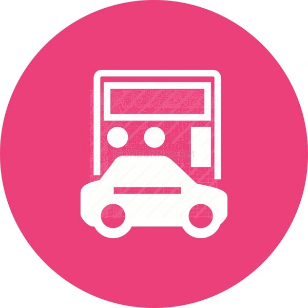 Auto Loan Calculator Flat Round Icon - IconBunny