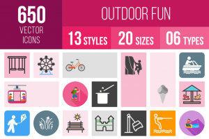 Outdoor Fun Icons Bundle - Overview - IconBunny
