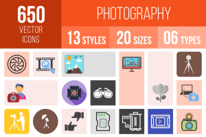 Photography Icons Bundle - Overview - IconBunny
