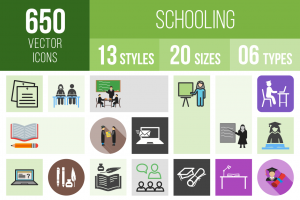 Schooling Icons Bundle - Overview - IconBunny