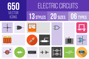 Electric Circuits Icons Bundle - Overview - IconBunny