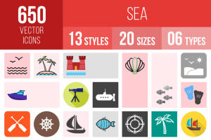 Sea Icons Bundle - Overview - IconBunny