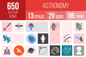 Astronomy Icons Bundle - Overview - IconBunny