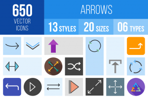 Arrows Icons Bundle - Overview - IconBunny