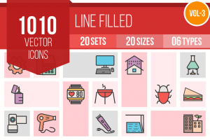 1010 Line Multicolor Filled Icons Bundle - Overview - IconBunny
