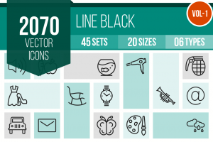 2070 Line Icons Bundle - Overview - IconBunny
