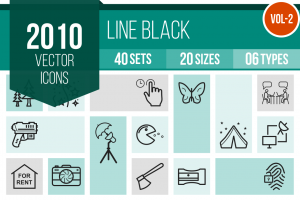 2010 Line Icons Bundle - Overview - IconBunny
