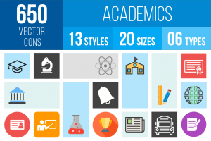 Academics Icons Bundle - Overview - IconBunny