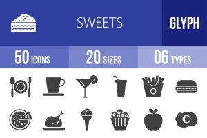 30 Sweets & Confectionery Glyph Icons - Overview - IconBunny