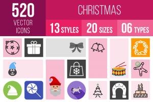 Christmas Icons Bundle - Overview - IconBunny