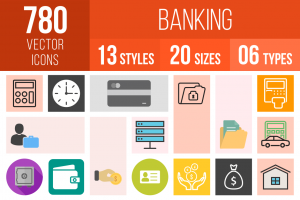 Banking Icons Bundle - Overview - IconBunny