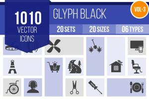 1010 Glyph Icons Bundle - Overview - IconBunny