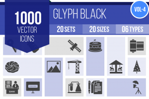 1000 Glyph Icons Bundle - Overview - IconBunny