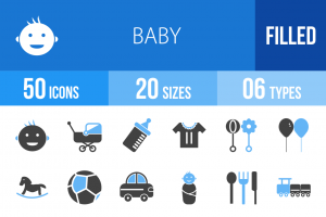 50 Baby Blue Black Icons - Overview - IconBunny