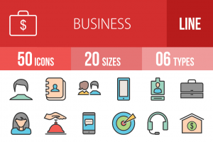 50 Business Line Multicolor Filled Icons - Overview - IconBunny