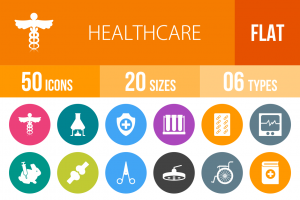 50 Healthcare Flat Round Icons - Overview - IconBunny