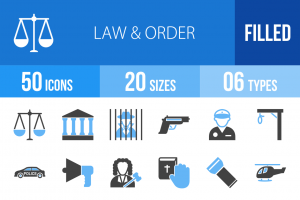 50 Law & Order Blue & Black Icons - Overview - IconBunny