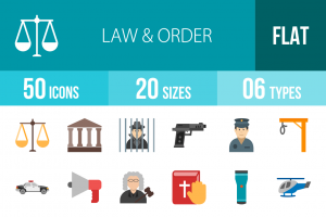 50 Law & Order Flat Multicolor Icons - Overview - IconBunny
