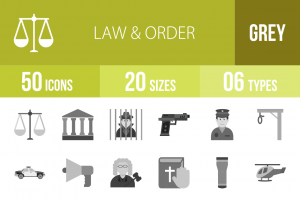 50 Law & Order Greyscale Icons - Overview - IconBunny