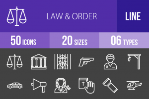 50 Law & Order Line Inverted Icons - Overview - IconBunny