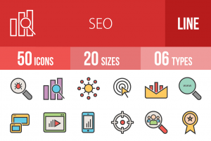50 SEO Line Multicolor Filled Icons - Overview - IconBunny