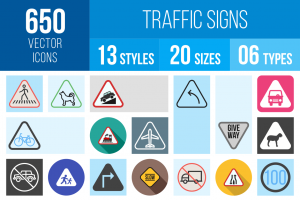Traffic Signs Icons Bundle - Overview - IconBunny