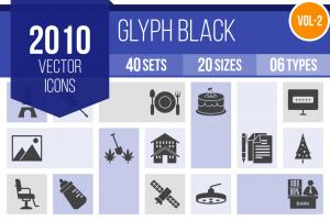 2010 Glyph Icons Bundle - Overview - IconBunny