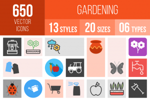 Gardening Icons Bundle - Overview - IconBunny