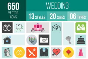 Wedding Icons Bundle - Overview - IconBunny