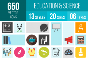 Education & Science Icons Bundle - Overview - IconBunny