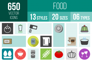 Food Icons Bundle - Overview - IconBunny