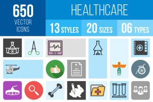 Healthcare Icons Bundle - Overview - IconBunny
