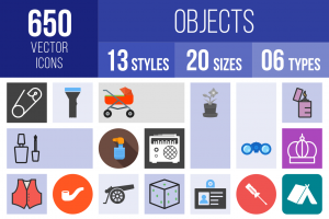 Objects Icons Bundle - Overview - IconBunny