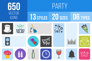 Party Icons Bundle - Overview - IconBunny