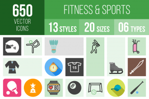 Fitness & Sports Icons Bundle - Overview - IconBunny