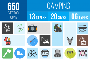 Camping Icons Bundle - Overview - IconBunny