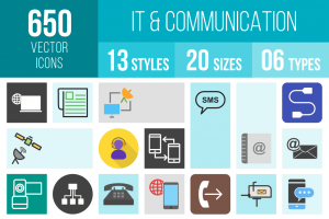 IT & Communication Icons Bundle - Overview - IconBunny