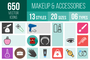 Makeup & Accessories Icons Bundle - Overview - IconBunny
