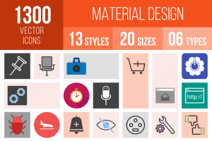 Material Design Icons Bundle - Overview - IconBunny