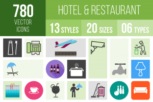 Hotel & Restaurant Icons Bundle - Overview - IconBunny