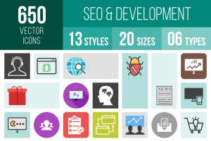 SEO & Development Icons Bundle - Overview - IconBunny