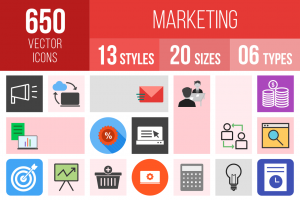 Marketing Icons Bundle - Overview - IconBunny
