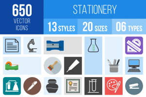 Stationery Icons Bundle - Overview - IconBunny