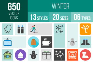 Winters Icons Bundle - Overview - IconBunny