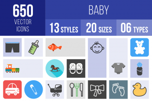 Baby Icons Bundle - Overview - IconBunny