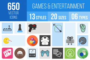 Games & Entertainment Icons Bundle - Overview - IconBunny