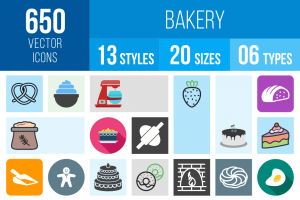 Bakery Icons Bundle - Overview - IconBunny