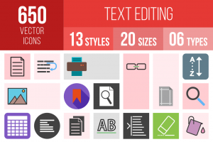 Text Editing Icons Bundle - Overview - IconBunny