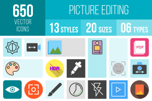 Picture Editing Icons Bundle - Overview - IconBunny